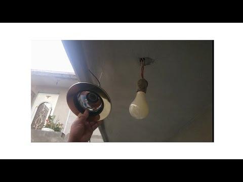 Como abrir orificio en escayola para colocar foco - Como instalar lamparas led ...
