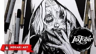 Speed Drawing Seidou Takizawa    Tokyo Ghoul    INKTOBER Day 11