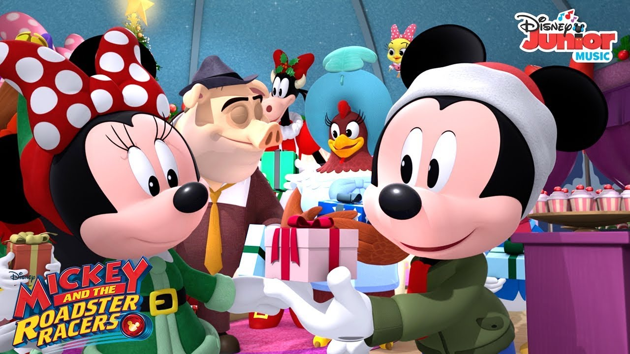 the best christmas ever music video mickey and the roadster racers disney junior - Youtube Mickey Mouse Christmas