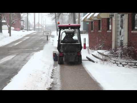 Ventrac Sidewalk Snow Management