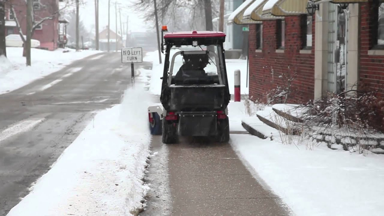 Ventrac Sidewalk Snow Management Youtube