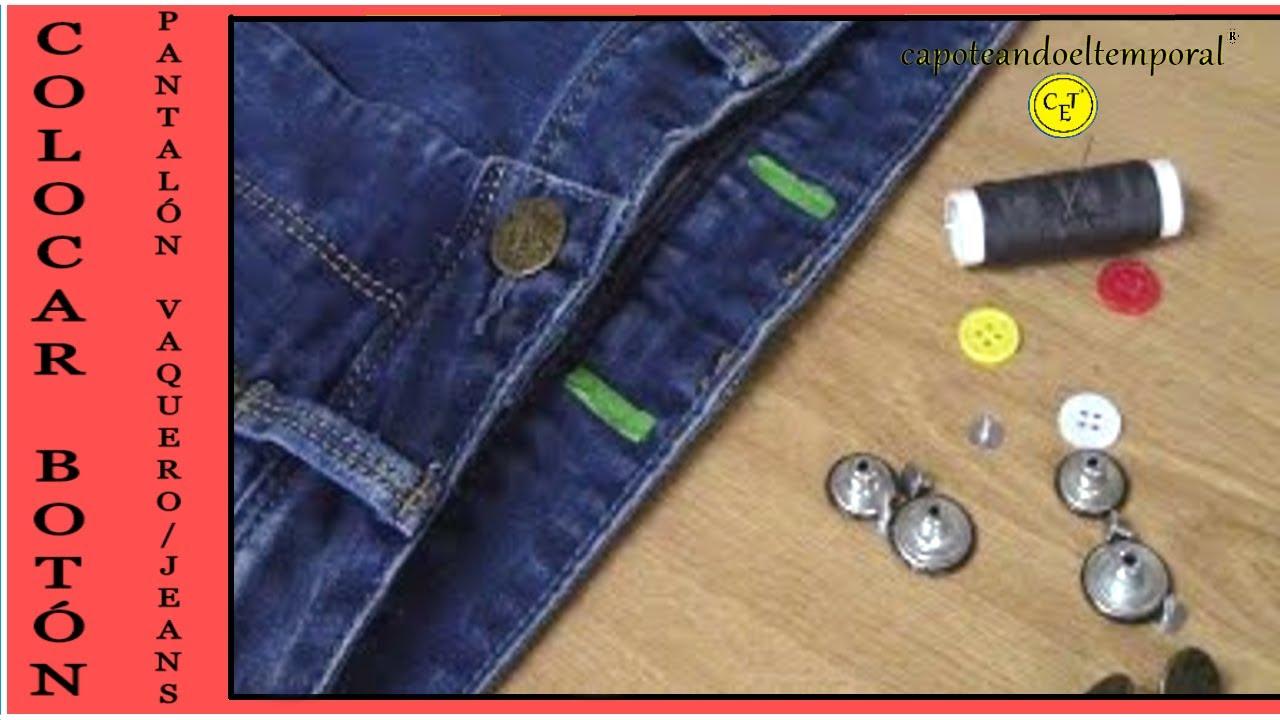 e84578874b COMO COLOCAR UN BOTÓN (pantalón vaquero o jeans) POSITIONING OF A BUTTON  (jeans) - YouTube