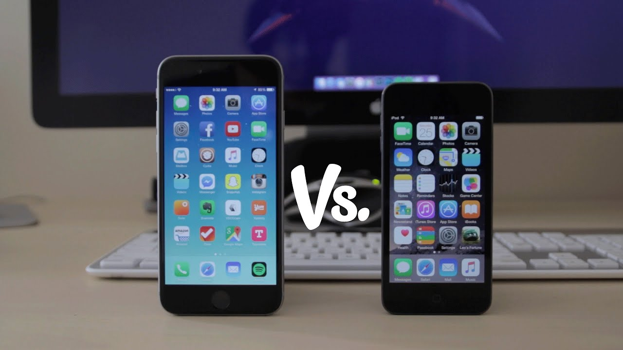 iphone 6 vs ipod touch 6th generation detailed. Black Bedroom Furniture Sets. Home Design Ideas