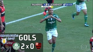 Gols - Palmeiras 2 x 0 Flamengo - Brasileirão 2017