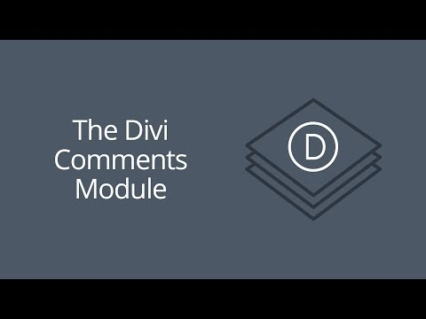 The Divi Comments Module