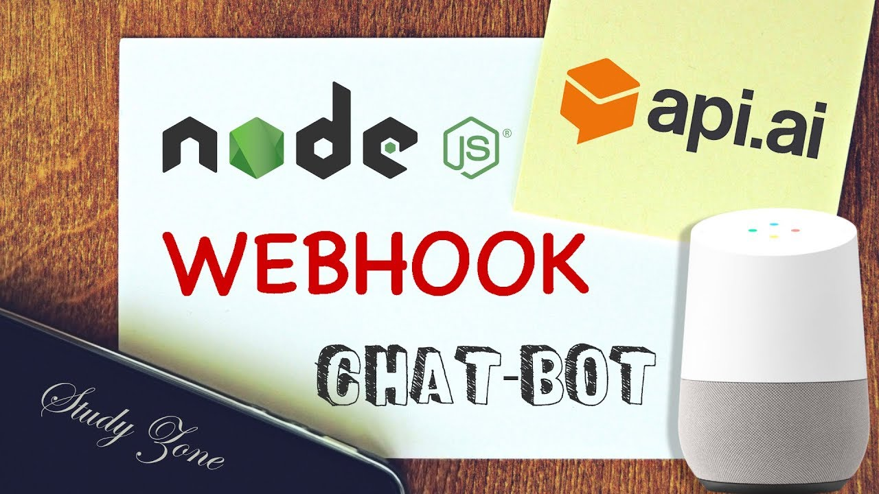 NEW VERSION AVAILABLE - SEE LINK IN DESC | Chatbot Tutorial  API AI/DialogFlow webhook