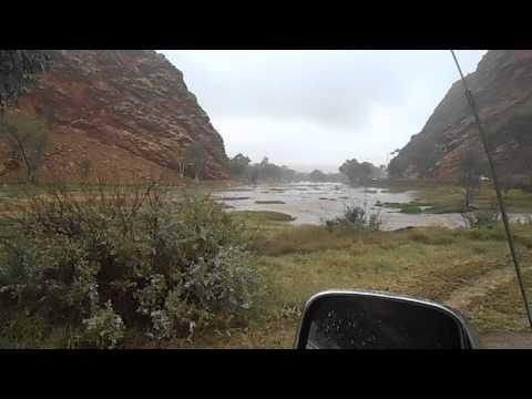 Todd River flows