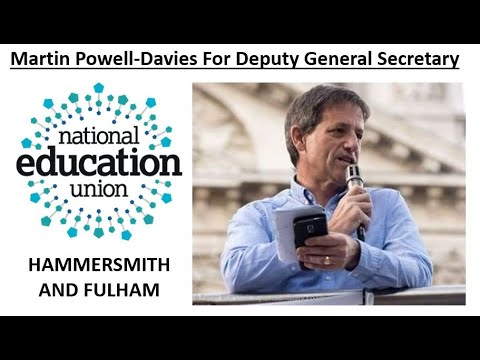 Martin sets out why he is seeking nominations to stand as NEU Deputy General Secretary (with thanks to Hammersmith and Fulham NEU).