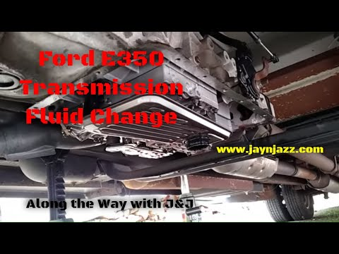 Ford E350 Transmission Fluid & Filter Change - E40D Transmission - RV DIY - 🚨