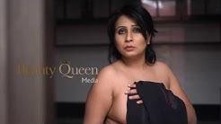 kerala sexy Natasha Beauty Queen Media Black Saree