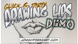 How to Draw Lips | Quick & Dirty Drawing Demo in Pencil and Ink