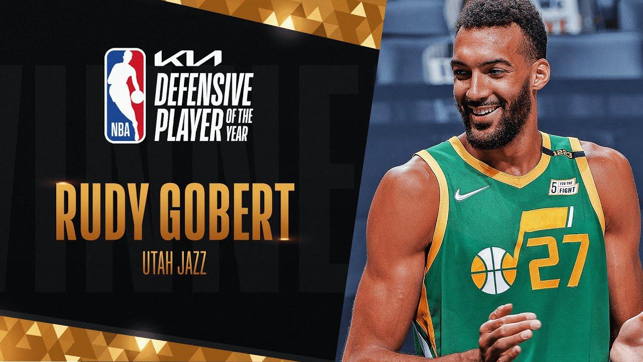 Rudy Gobert Wins #KiaDPOY Defensive Player of the Year!   2020-21 NBA Season