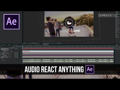 After Effects Tutorial: Audio React Anything