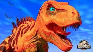 Tyrannosaurus Rex Vs Spinosaurus Vs Giganatosaurus Vs Ceratosaurus Vs Majungasaurus Dinosaur Battle