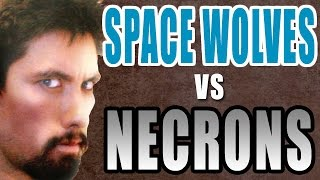 New Necrons vs Space Wolves Warhammer 40k Battle Report - Banter Batrep Ep 86