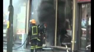 Обратная тяга во время пожара   страшная сила