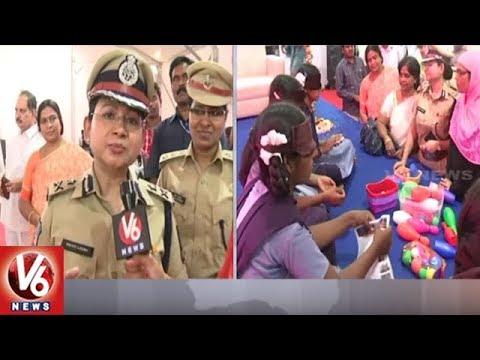 Face To Face With SHE Teams Incharge IPS Swathi Lakra On Mitra Police Robot | V6 News