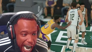 I Pushed Him After A Technical Foul! Lakers vs Bucks NBA 2K19 MyCareer Ep 41