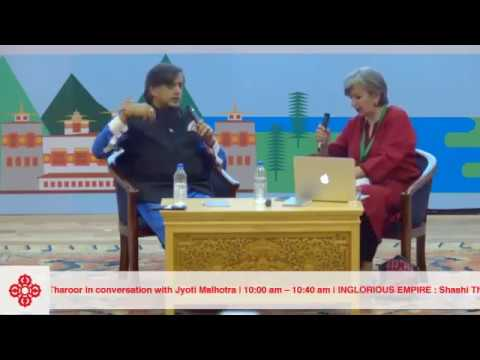 Dr. Shashi Tharoor in Conversation with Jyoti Malhotra @ 8th Mountain Echoes festival in Bhutan