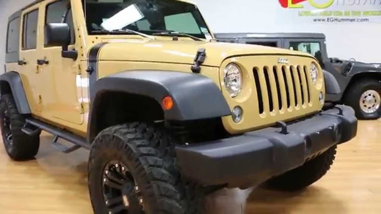 Jeep Wrangler Lifted >> Lifted 2014 Jeep Wrangler Unlimited For Sale~Sand Dune~XD ...
