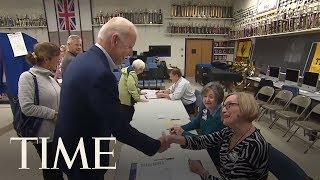Joe Biden Exits Voting Booth After Voting For Midterm Election | TIME