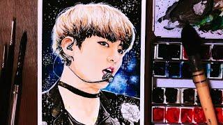 [BTS] JUNGKOOK   Speed Painting    방탄소년단 정국 수채화 그리기 _ Portrait fanart