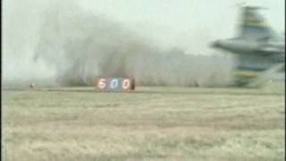 JAS 39 Gripen crash (rare alternate angle) due to pilot-induced oscillation on February 2 1989.