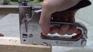 видео Степлер строительный: инструкция по применению