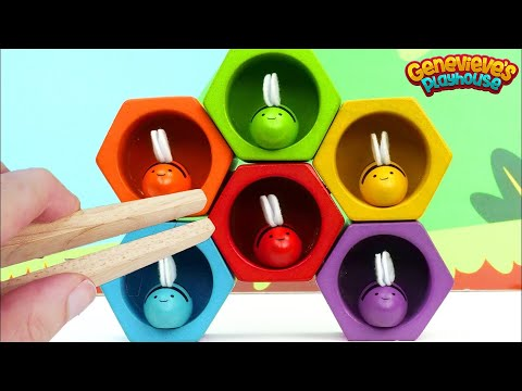Learn Colors and Counting for Toddlers with Colorful Toy Bees!