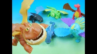 2016 DRAGONS RACE TO THE EDGE SET OF 6 BURGER KING KIDS MEAL TOYS VIDEO REVIEW