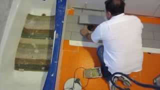 Part 6 How To Install Wood Look Plank Tile On Schluter Ditra: How To Start Laying The Tile