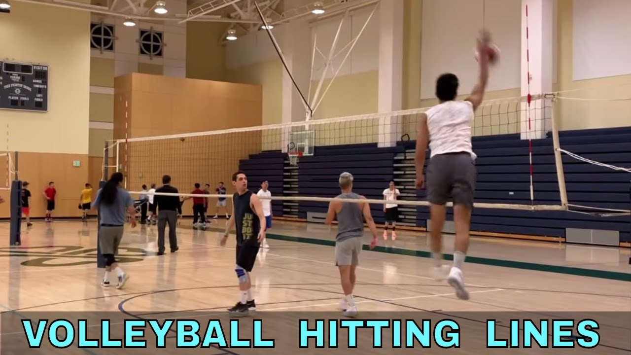 Left Right Side Spiking Practice Hitting Lines Youtube