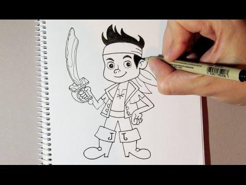 Cómo Dibujar A Jake Y Los Piratas De País De Nunca Jamás