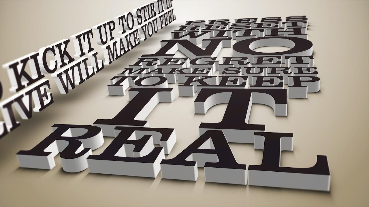 Kinetic Typography 3D Lyrics. v1 and v2. After Effects ...