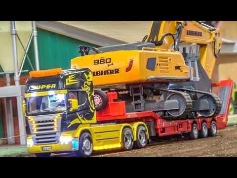 R/C trucks, tractors and machines preparing the construction zone!