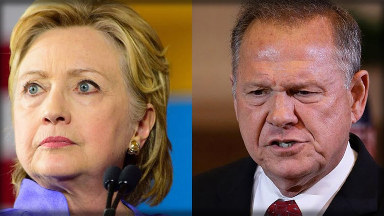 HILLARY JUST CAUGHT IN SICK PIC WITH GIRL WHO ACCUSED ROY MOORE OF GROPING HER