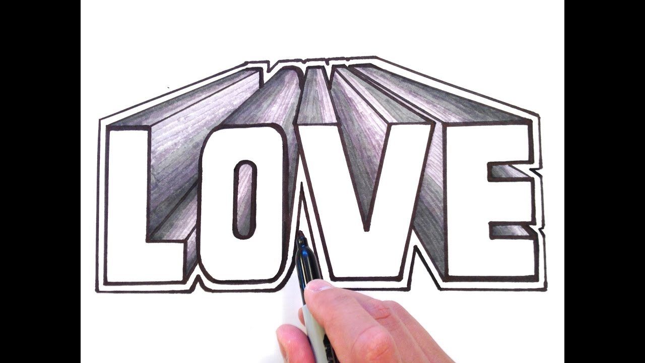 How To Draw I Love You Mom In D Letters