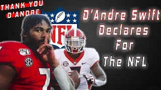 D'Andre Swift DECLARES For The NFL Draft | Thank You D'Andre #DGD