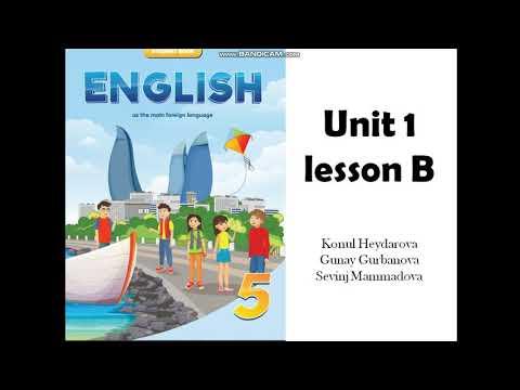 4-cü sinif ingilis dili. Dərs 2 (1-in davamı)