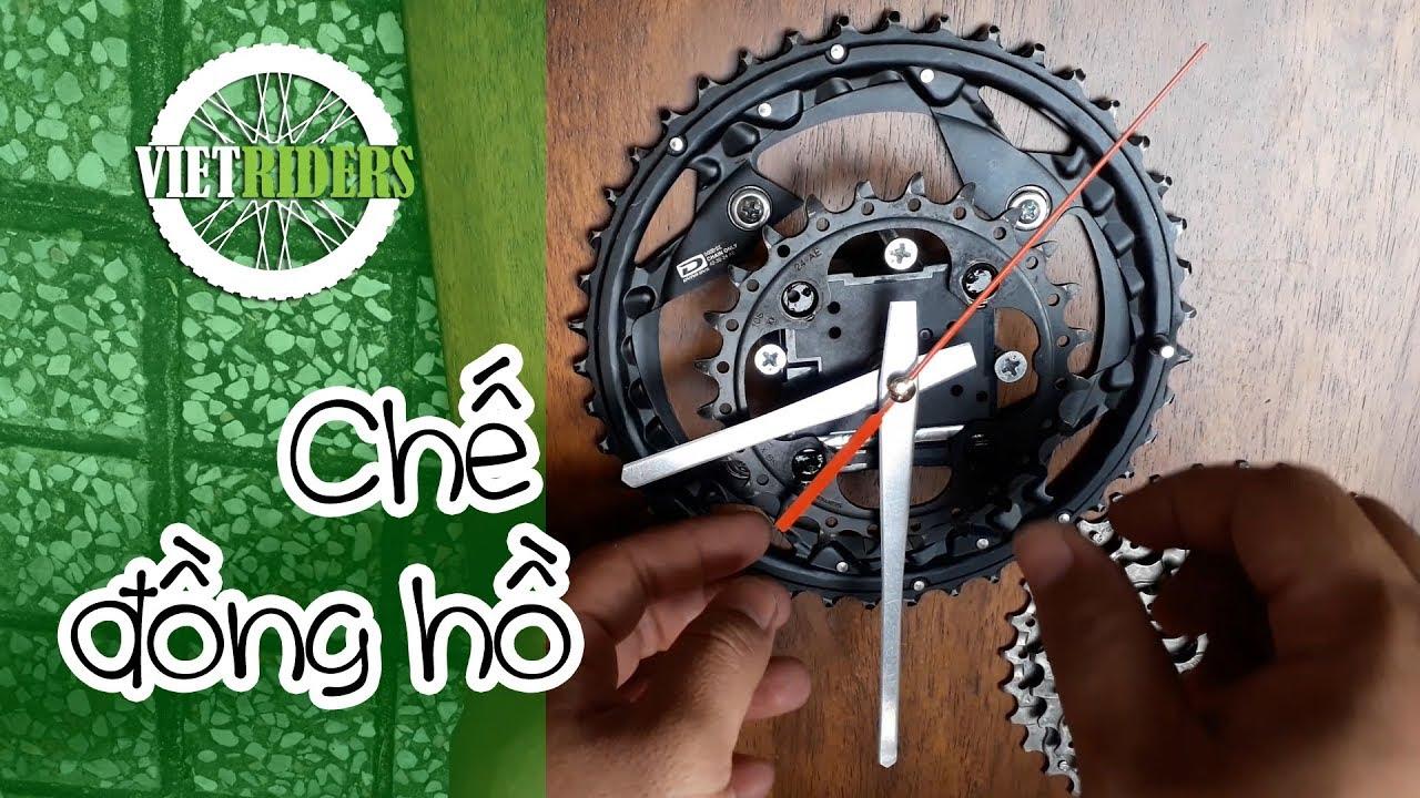 [Vietriders.vn] – Tự làm đồng hồ từ phụ tùng xe đạp – Build Clock from bicycle parts