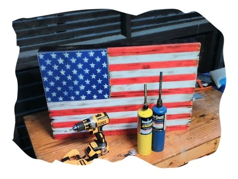 American Flag Concealed gun compartment that hangs on wall