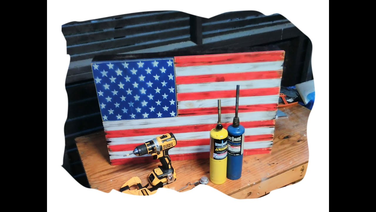 American Flag Concealed gun compartment that hangs on wall - YouTube