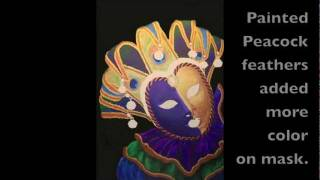 Great Art - Carnival Peacock Mask