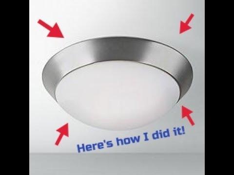 Installing a ceiling light fixture