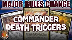 Major Rules Change - Commander Dies Triggers | The Command Zone #334 | Magic: The Gathering