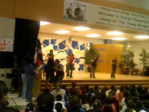 Hidalgo Elementary School -Hoedown throwdown Hannah Montana dance