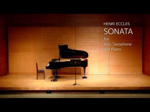 HENRI ECCLES SONATA for Alto Saxophone and Piano