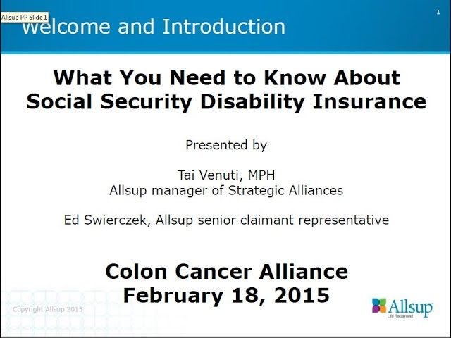 Webinar What You Need To Know About Social Security Disability Insurance Youtube