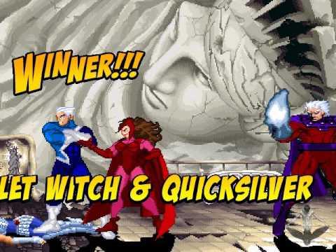 mugen magneto quiksilver scarlet witch vs caballeros de