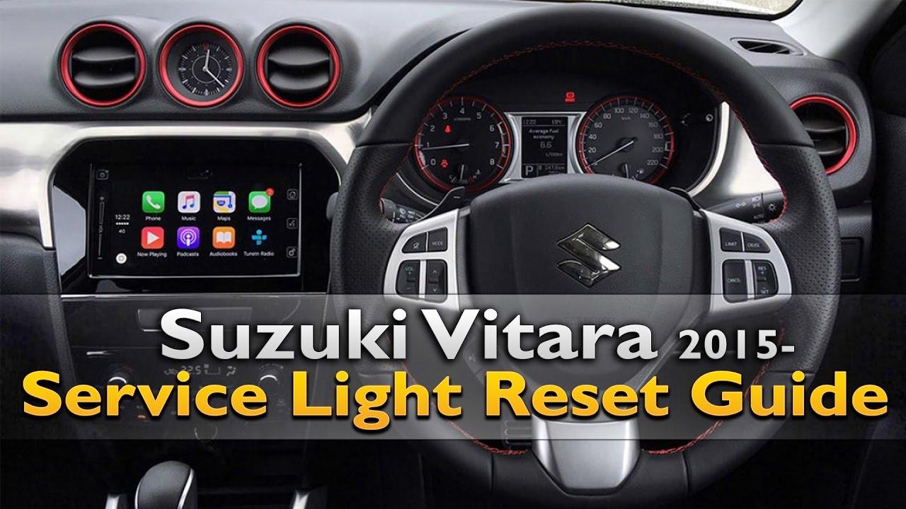 Suzuki Vitara Service Light Reset